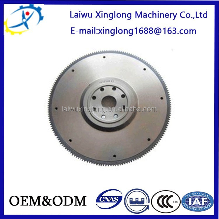 Professional resin sand casting OEM Ductile Iron Flywheel with ISO certification for heavy duty part