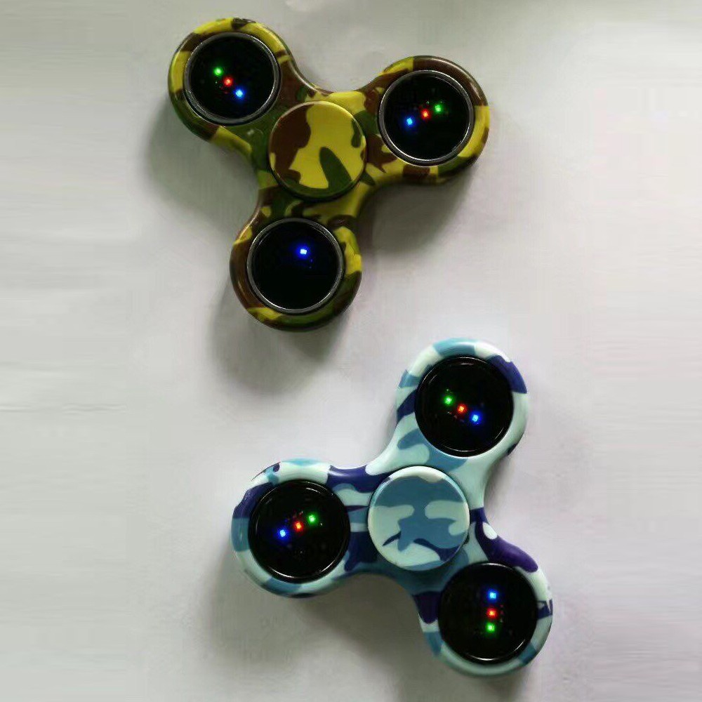 2017 Fluorescent light Tri Spinner Relieve Stress Fidget Toys LED Spinner for gifts