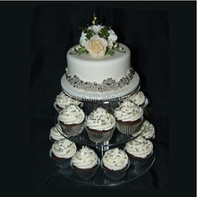 Fashionable 3 tier acrylic cake pop stand for wedding