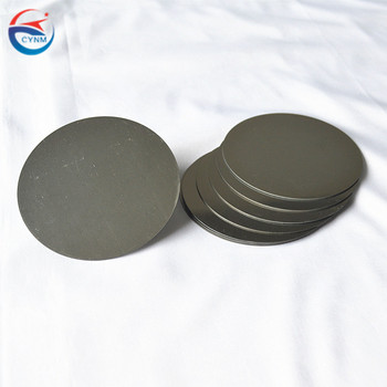 Pure polished molybdenum disc, moly round plate used  in Power transistor heat shield substrate