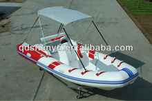 CE 4.7m fiberglass deep hull hypalon rigid inflatable boat