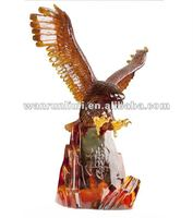 Fengshui glass decoration-- flying eagle --big size craft --BS196