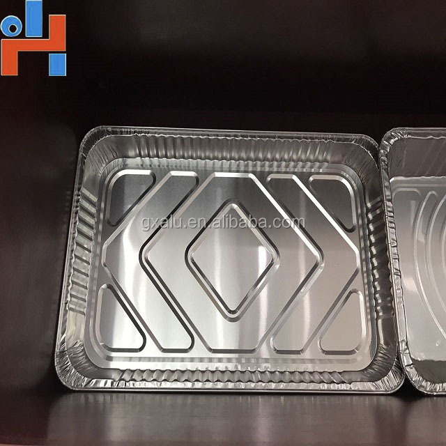 food grade aluminum foil pizza box made by aluminum foil packaging machine