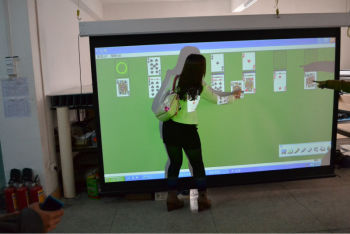 "100"" Electric Interactive projection screen/Electronic interactive whiteboard FS1000"