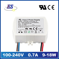 18W 700mA AC DC Constant Current Waterproof Electronic LED Driver