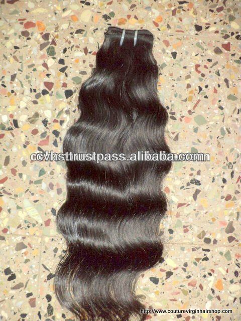 new arrived virgin human Indian hair extension Virgin Wavy Grade AAA hair weft