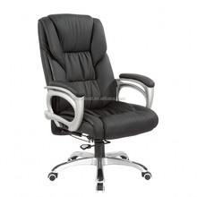 Multi-functional Black Leather Office Chair / Modern Computer Office Furniture / Swivel Chair