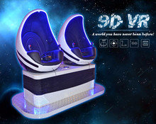 Skyfun Virtual Reality Video Game 2 Seats interactive game machine Egg VR Cinema Simulator 9D VR shopping mall motion rides