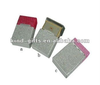 hot selling crystal cigarette case for men