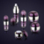 2017 New Acrylic Cosmetic Packaging Stylish Travel Cosmetic Bottle Set