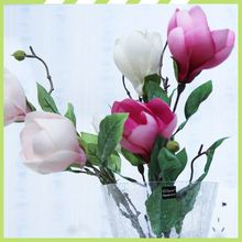 Better price customized colorful silk magnolia wholesale cemetery flower