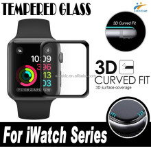 New Arrival for Apple Watch Tempered Glass 3D Full Cover Curved Edge Screen Protector for iWatch Series1 & Series 2