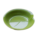 SGS approved Spring Chinoiserie leaf shape green color melamine bowls