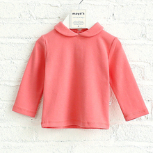 Hot sale adorable pink kids shirt spring outdoor girls shirt