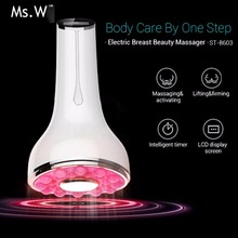 Portable New breast care heated ultrasonic Breast Massager