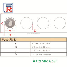 Paper NFC label printable and programmable with NTAG213 chip for all NFC phone