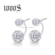 2016 fashion earring designs new model earrings , Crystal beads with 925 sterling silver