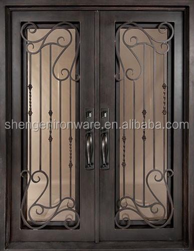 Cuadrado superior de hierro forjado puertas de entrada - Puertas de entrada de hierro ...