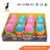 2017 Hot Sales Funny Inflatable Colourful Plastic Tumbler Rainbow Egg For Kids