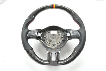 Factory wholesale carbon fiber car steering wheel for VW Magotan