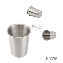 High Quality 250ml Sliver Single Wall Drinking Straight Durable 304 Stainless Steel Beer Cup