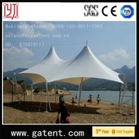 Water-Proof and Sun-Proof Steel Structure Tensiile Beach shade tent