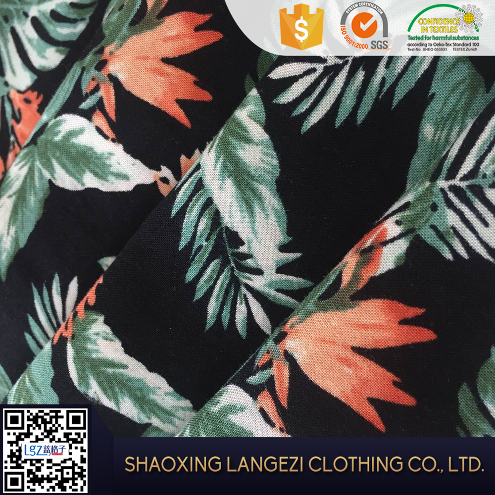 New style 100% printed rayon floral fabric for women clothing