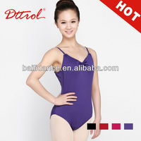 D004854 Wholesale sexy purple color sleeveless gymnastics dance girls in leotards pics