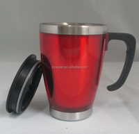 Wholesale 16 oz staineless steel Auto mug for coffee in car with handle