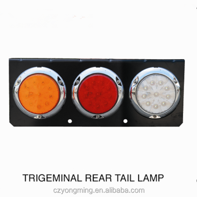 3 led tail lights round combination led vehicle tail lamps