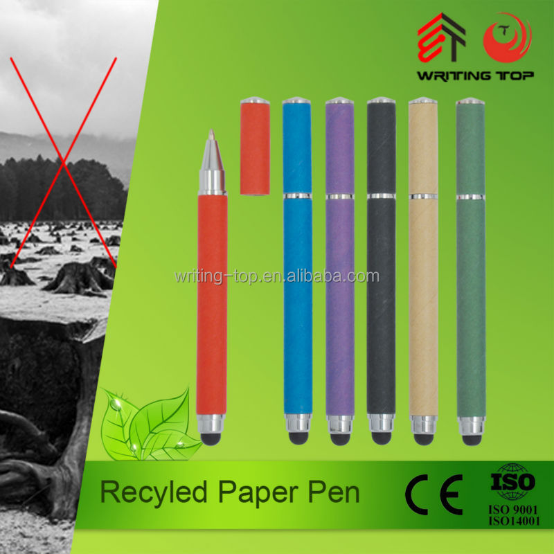 Recycled paper eco-friendly stylus pen for touch screen