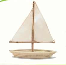 Nautical wooden sailing boat decorations