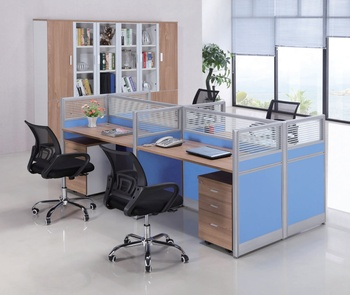 wholesale modern office furniture tables/mdf wooden 4 person office desk