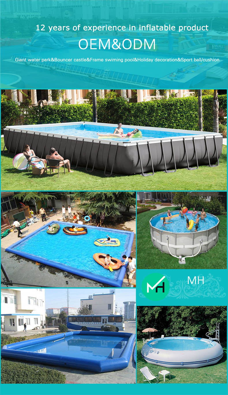 Large professional supplier inflatable swimming pool for adults on sale