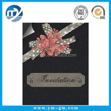 Custom Logo Decorative Paper 3d christian wedding invitation card