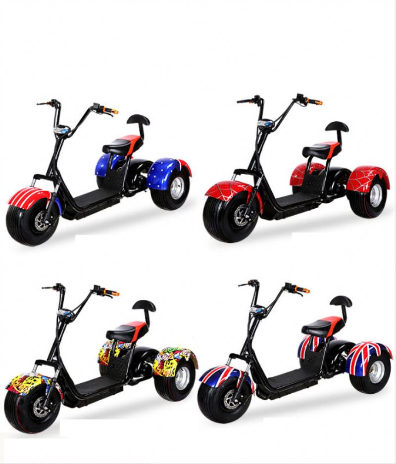 2017 citycoco 3 wheels 200km off road 150cc gasoline engine scooter with CE