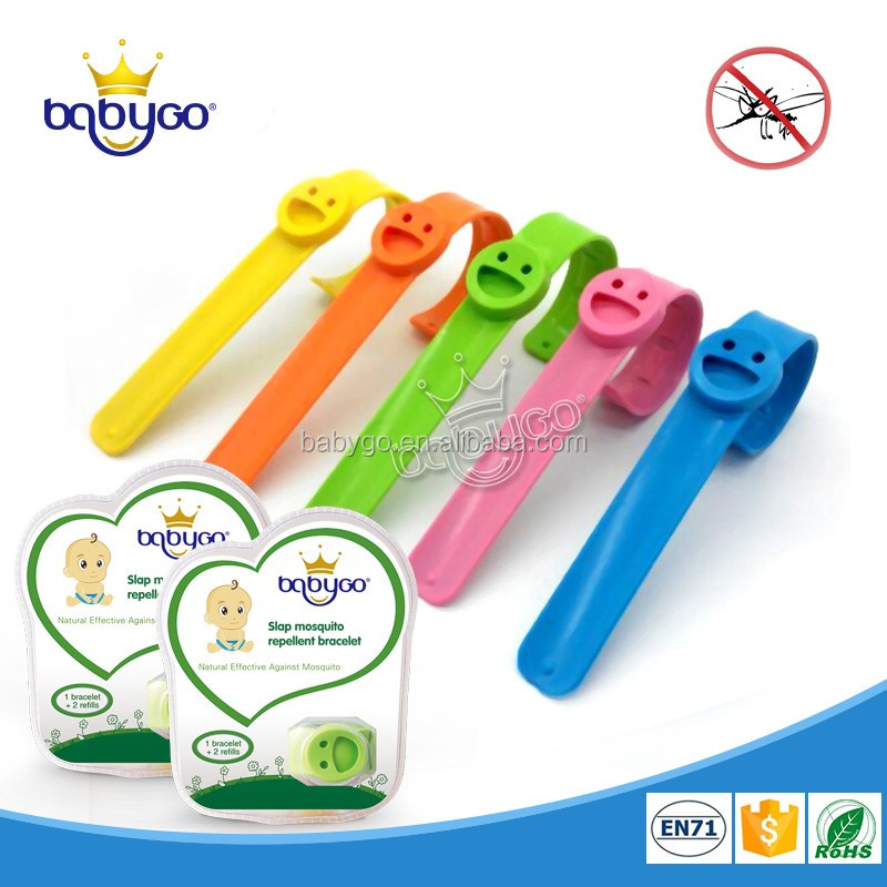 Especially for babies 100% essential oil insect bug repellent slap bracelet edible silicone