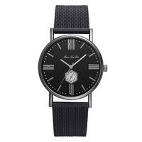 New Design Fashion Girls Watch Business Alloy Black Dial With Calendar Brand Watch Women Top Popular Quartz Wrist Watch