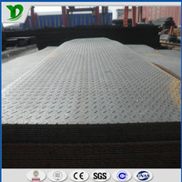 hot sale checker steel plate 5mm thick ss400 astm a36 tear drop steel road plate
