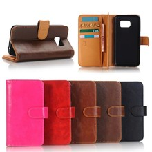 2017 new arrive stand function wallet leather case for Samsung S7,3 casd solt in it