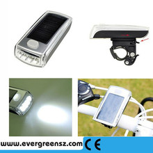 2016 Bicycle 4 Led Solar and USB 2.0 Rechargeable Headlight