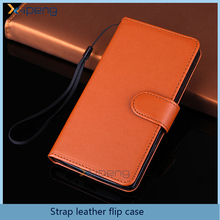 Popular wallet stand card holder mobile phone cover flip leather case for LG G3 G4 G5 with strap