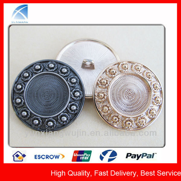large flower embossed fashion buttons for wedding dress
