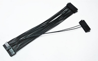 24Pin Double Dual PSU ATX Synchronous power supply starting adapter cable for Bitcoin Mining 30cm