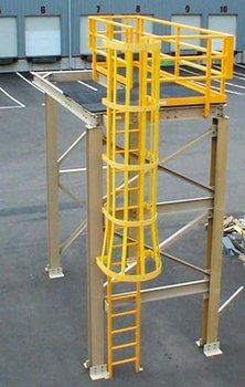 Ladder with Safety Cage FRP