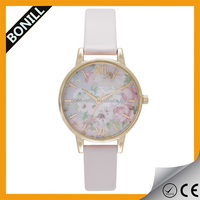 Gold Plated Lady Watch Excellence Quartz Fashion Butterfly Vintage Floral Watches