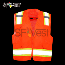 high visibility security safety clothing for men construction vest with 3m reflective tape ANSI/ISEA 107-2015