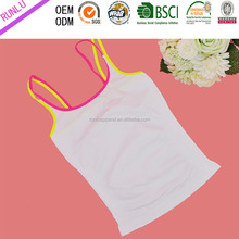 Lady's seamless solid fashion cami tops