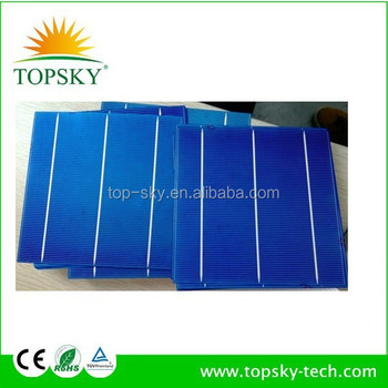 High efficiency 156mmx156mm cheap solar cells A grade polycrystalline photavaltic solar cells 6x6