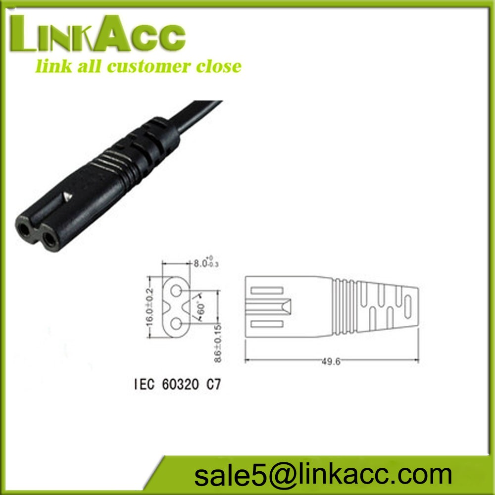 LKCL21 C7 TO AC C8 power transmission two hole male mother extension line